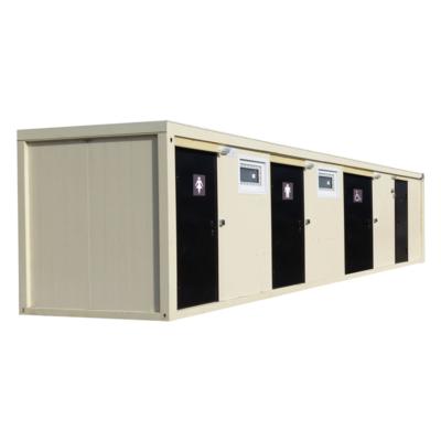 Модульный туалет серии КМТ, фасад модуля