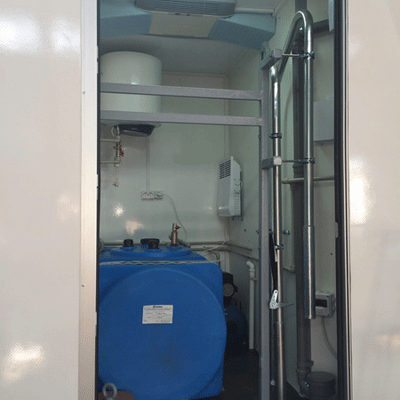 Техническое помещение автономного туалета на колесах