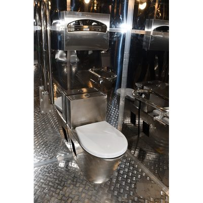 модульный туалет, интерьер из нержавейки
