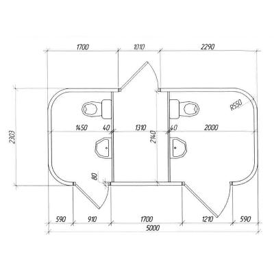 схема модульного туалета АМ-3