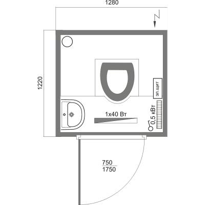 автономная туалетная кабина А-2