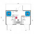 Схема вакуумного модульного туалета S-2